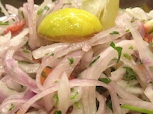 onion salad, parsi salad, kachubar