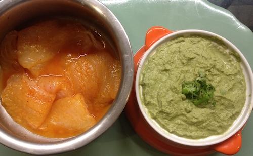 ingredients for making Patra ni Machchi at home