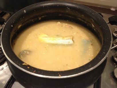 cooking the surmai in the saas