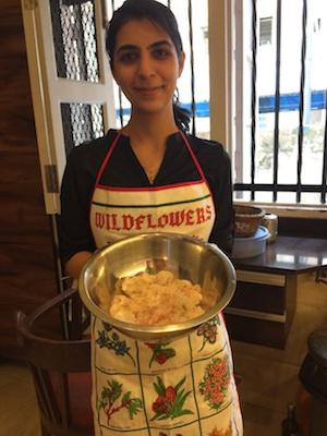 Fresh Prawns, Bawi Bride, cleaned prawns, prawn pulao