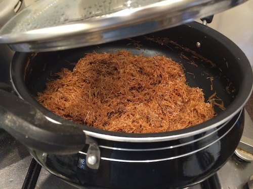 Cover and cook Parsi Sev