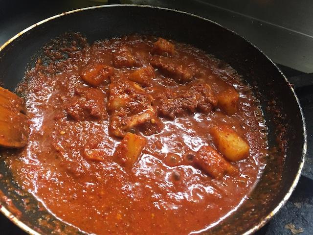 Cooking Bafat Gravy
