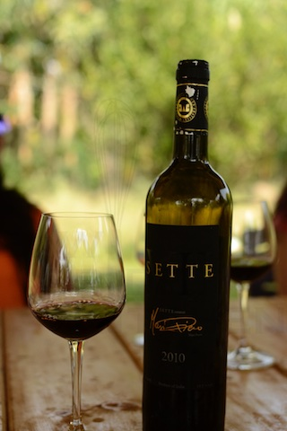 Fratelli Sette Wine paired with the mutton cooked in Kala Masala