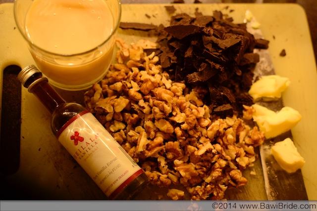 Chop Chocolate and Walnuts for Chocolate Walnut Fudge
