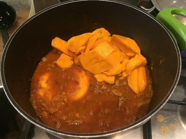 Add Mango for Mango mutton pie mix