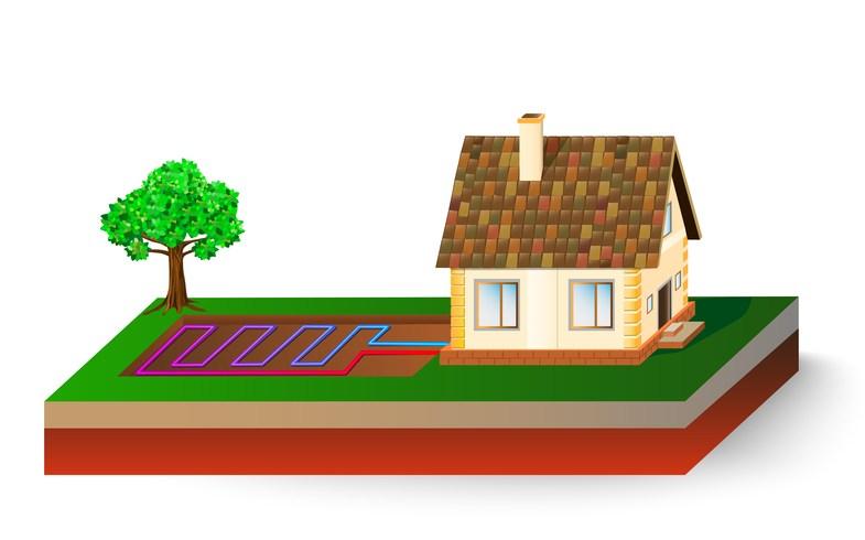 Haus mit Wärmepumpe