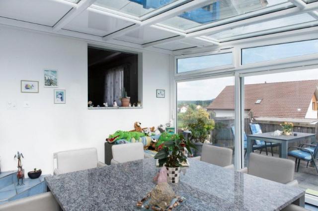 fundament f r wintergarten bauen und wohnen in der schweiz. Black Bedroom Furniture Sets. Home Design Ideas