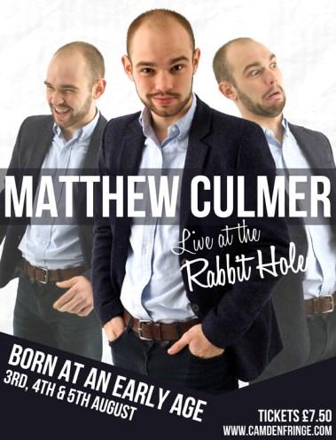 Final poster design for Matthew Culmer's Debut Show