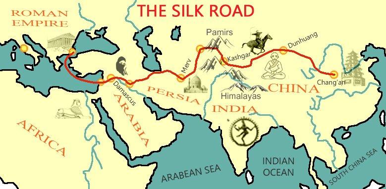 silk-road-map