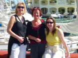Ros, San and Jen at the harbour