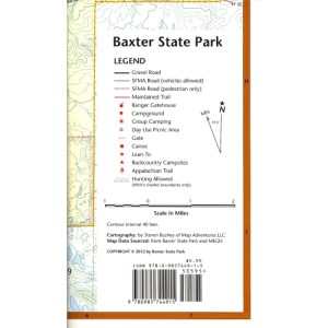 GUIDE TO THE APPALACHIAN TRAIL IN MAINE (7 MAPS) – Baxter State Park