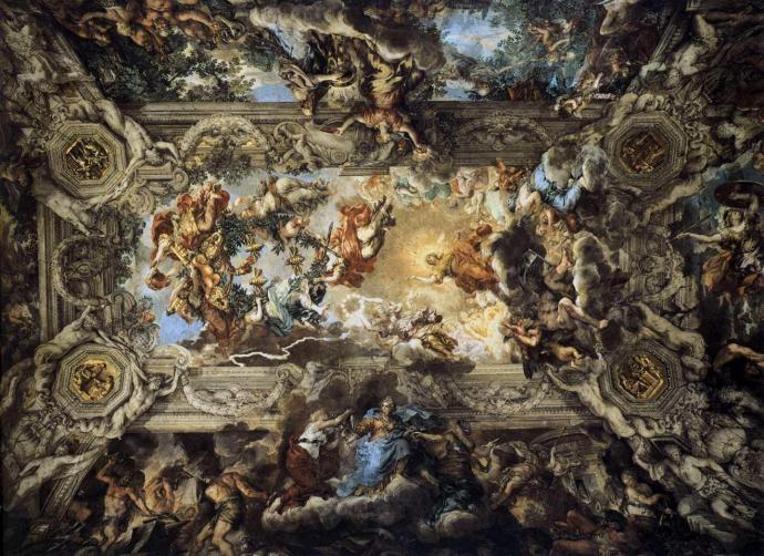 Pietro da Cortona  'dan Allegory of Divine Providence and Barberini Power (1633-1639)
