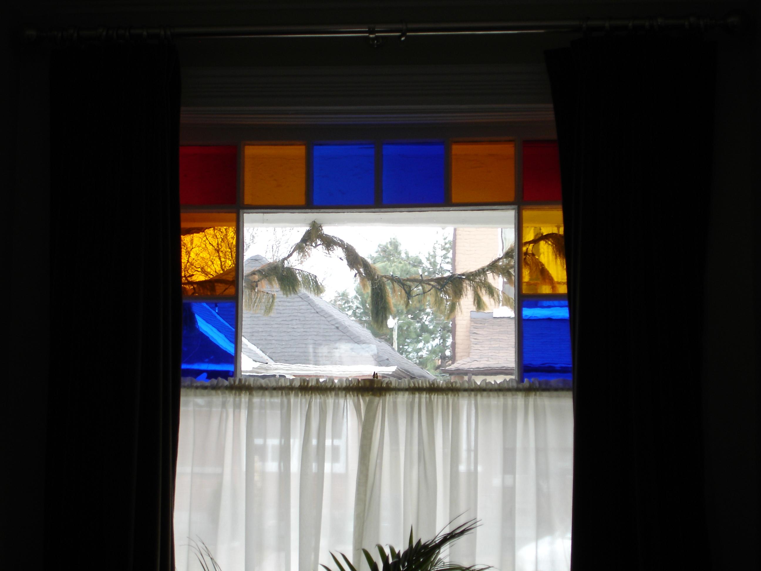 """Queen Anne style """"Fancy Top"""" window"""