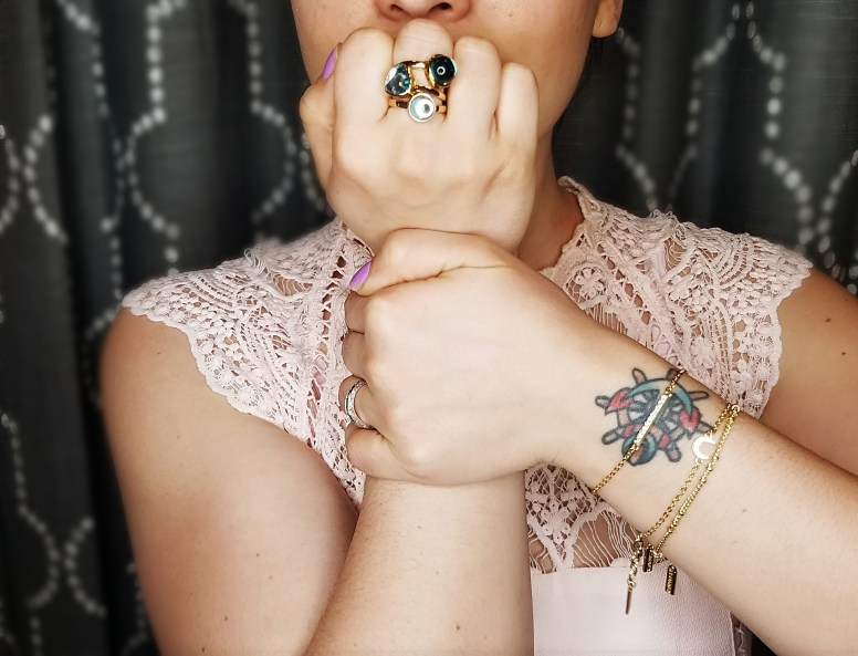 SugarFix by BaubleBar Gold Stackable Rings and Gold Stackable Bracelets