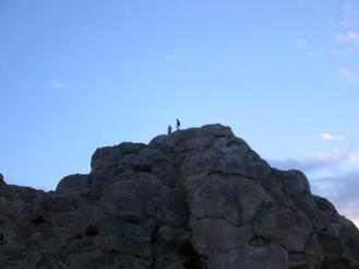 Rock formations at Pyramid Lake Nevada