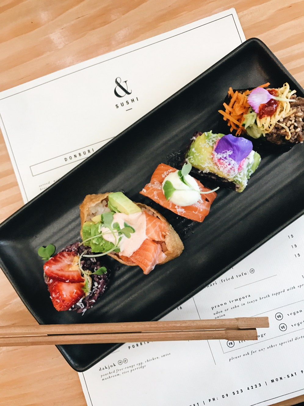 Sushi & pretty Auckland eats