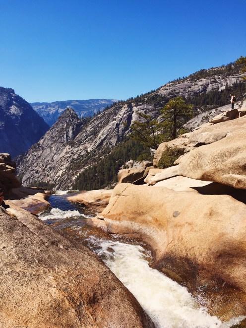 Top of Nevada Fall Yosemite Hike