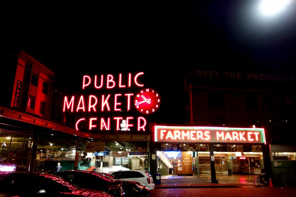 Pikes Place Market Night