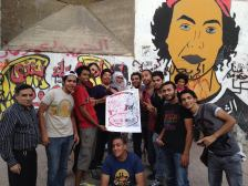 Oakland poster in Tahrir