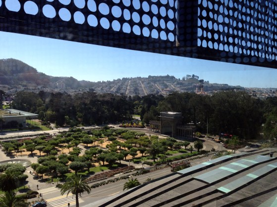view from de young