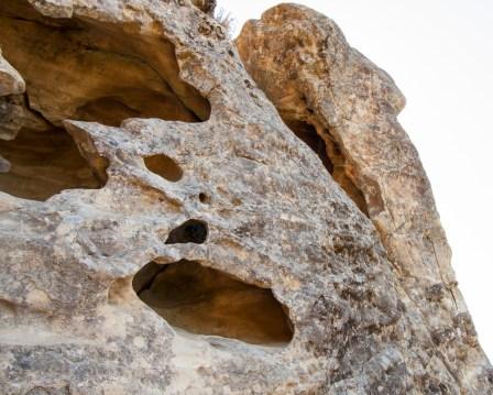 Castle Rock-rock face caves