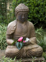 032817japanese budda with flowers
