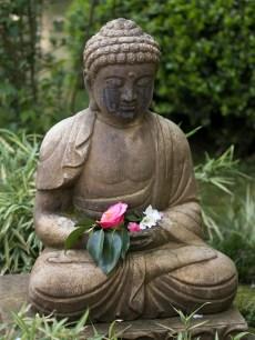032817japanese budda with flowers