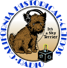 California Historical Radio Society Dog Logo