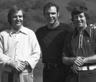 Mike Cleary, Daryle Lamonica and Frank Dill (1975 Photo)