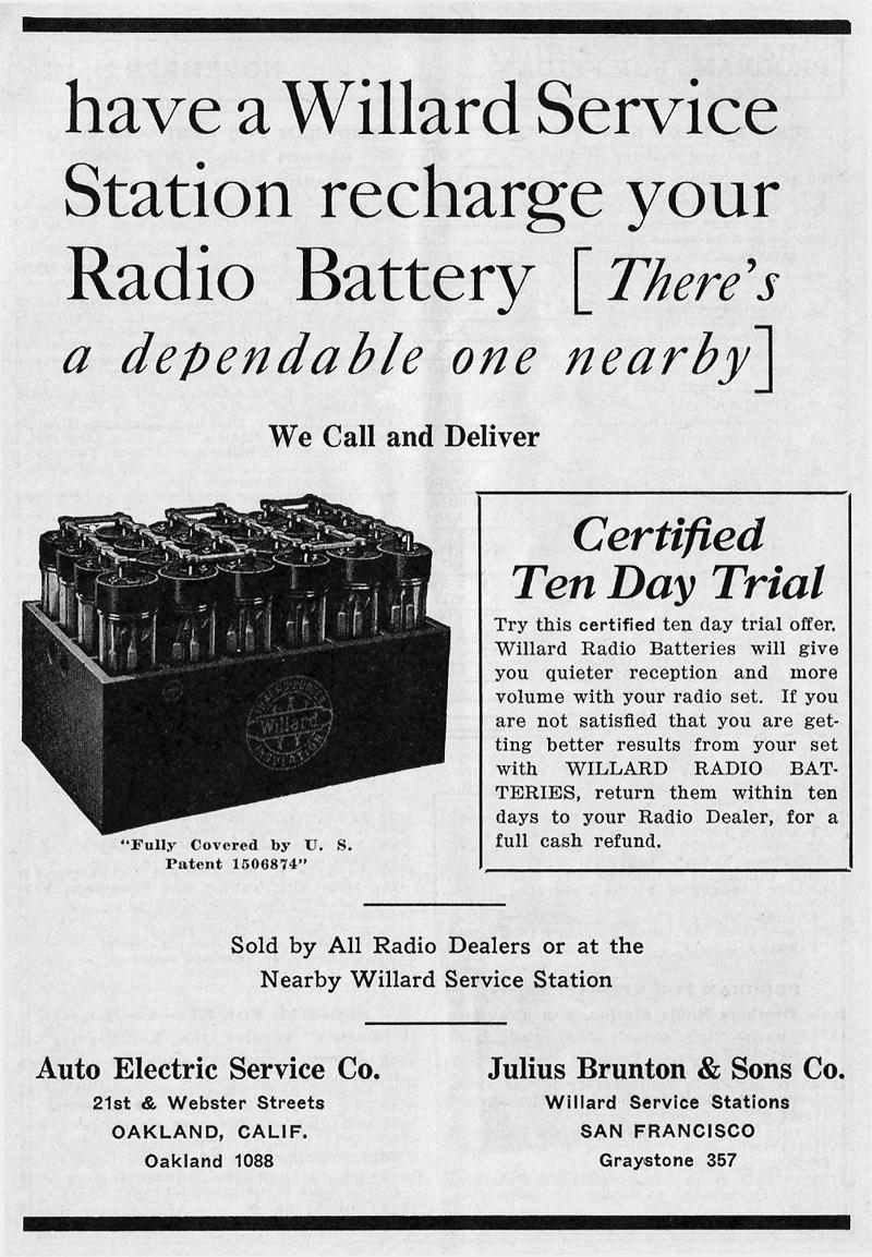 Willard Battery Ad