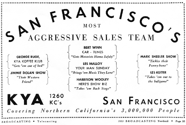KYA Sales Team Ad, 1953 (Image)