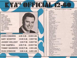 KYA April 1968 Music Survey (Image)
