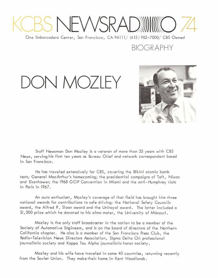 Don Mozley (KCBS Image)
