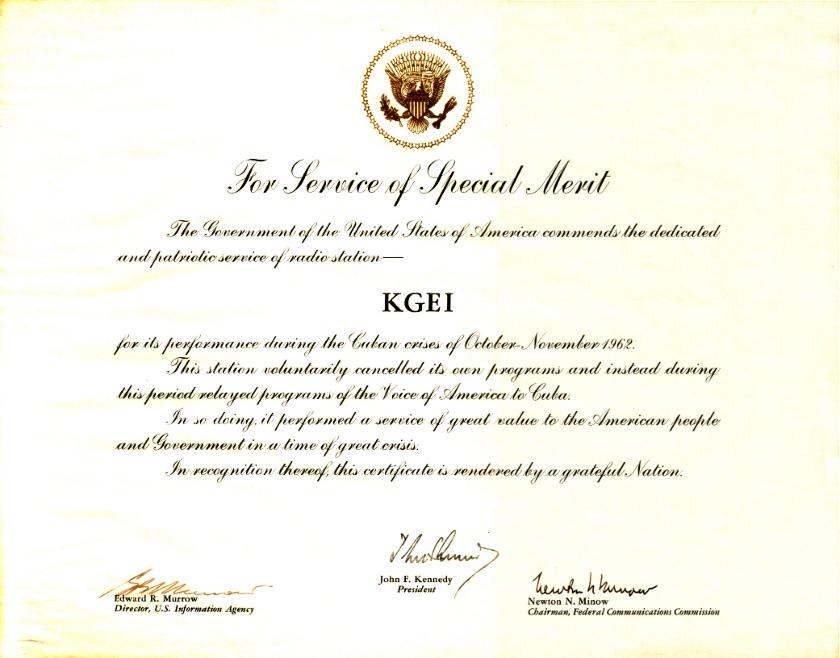 kgei_cuba-commendation_1962
