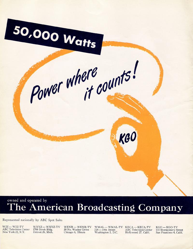 Image of KGO Radio (San Francisco) Sales Brochure back cover