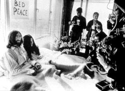 John and Yoko Bed-In (1969 Photo)