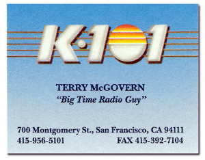 McGovern Business Card (Image)