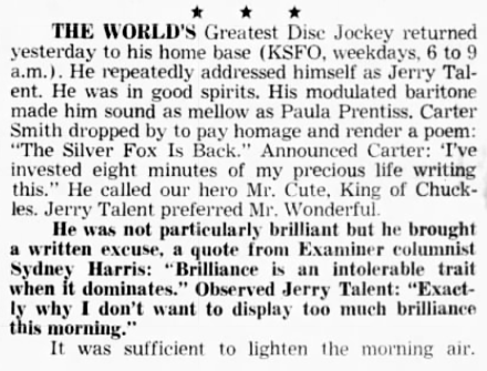 Don Sherwood Returns, 1967 (Image)