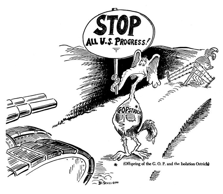 political cartoons by Dr. Seuss that are still relevant today