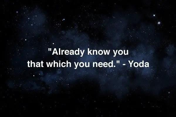yoda words of wisdom