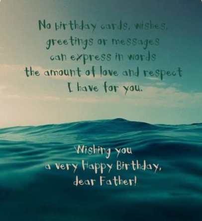 Happy Birthday Dad Quotes For