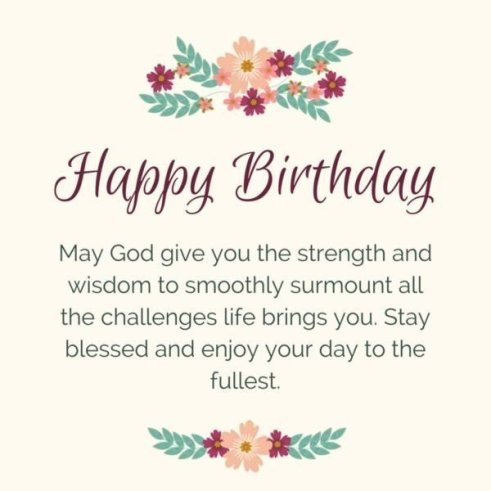 Happy Birthday God Bless You Blessings