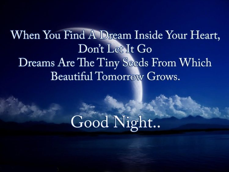SMS-good night in your own words to the guy