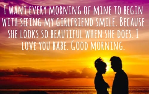 sweet and romantic good morning messages for her