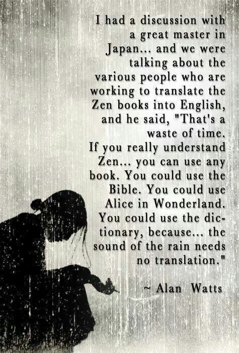 alan watts quotes about zen
