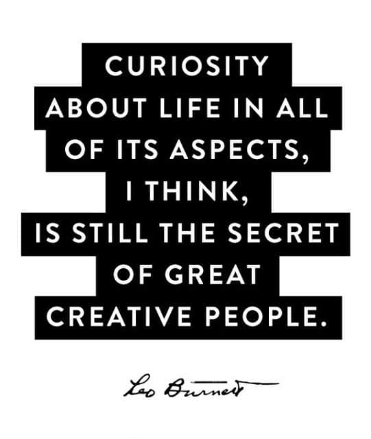 curiosity quotes and creativity