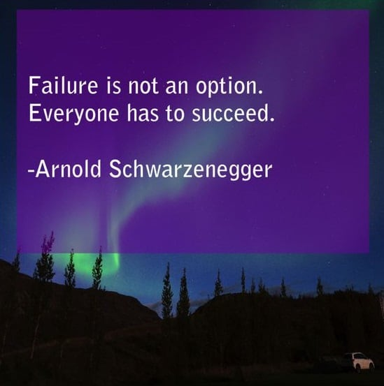 arnold schwarzenegger quotes about success