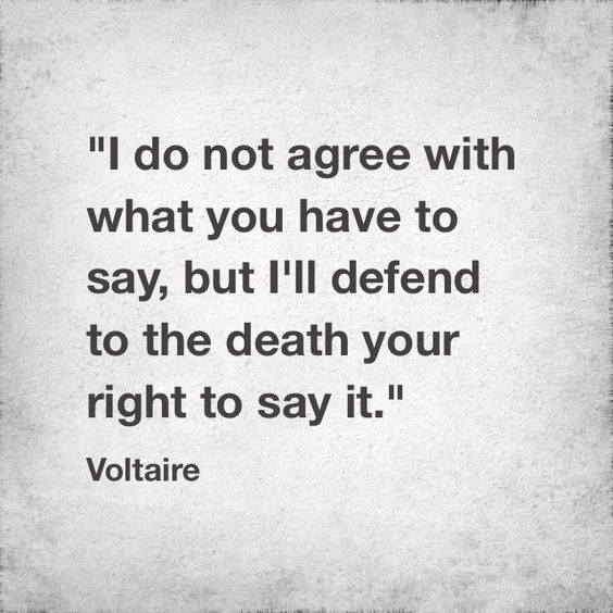 quotes by voltaire on freedom of speech