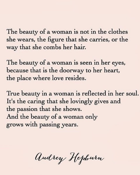 audrey hepburn quotes on beauty