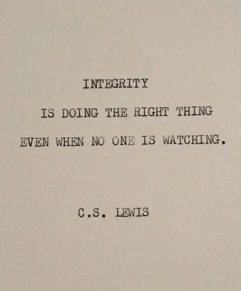 cs lewis quotes integrity